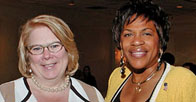Dean Kathleen M. Boozang and Karol Corbin Walker '86 at the AFBNJ Dinner