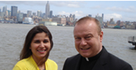 Elizabeth_Caraballo_and_Father_Robert_Meyer_Waterfront_Project