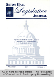 Seton Hall Law Legislative Journal Book Cover