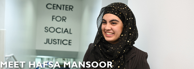 Meet Hafsa Mansoor, student at Seton Hall Law