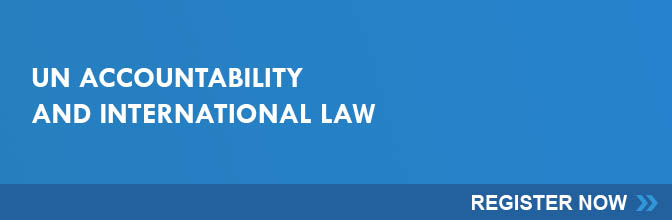 RSVP to attend the UN Accountability and International Law conference.