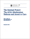 The Sentinel Project: The ACA's Marketplace Reforms and Access to Care