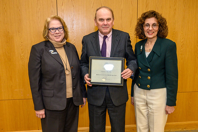 Professor Charles Dewey Cole Receives Adjunct Professor of the Year 2019