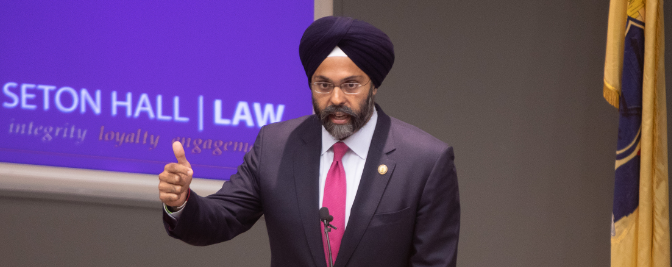 Attorney General Keynotes at Seton Hall Law's Diversity Speaks