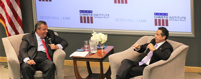 Christie Institute for Public Policy Hosts Inaugural Lecture at Seton Hall Law