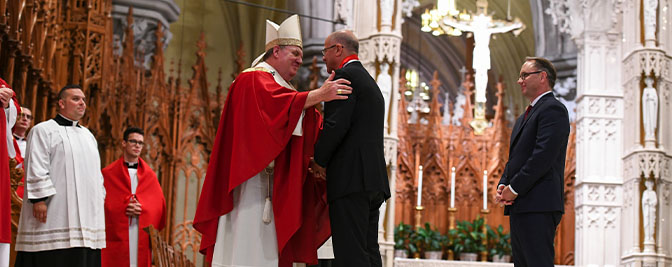 35th Annual Red Mass Honors Kevin H. Marino '84