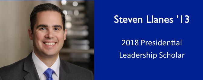 Seton Hall Law Alumnus Steven Llanes Selected for Presidential Leadership Scholars Program