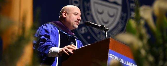 Craig Carpenito delivers Keynote Address and receives Honorary Degree