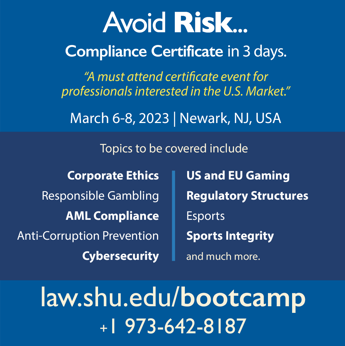 Avoid Risk - Compliance Certificate in 3 days