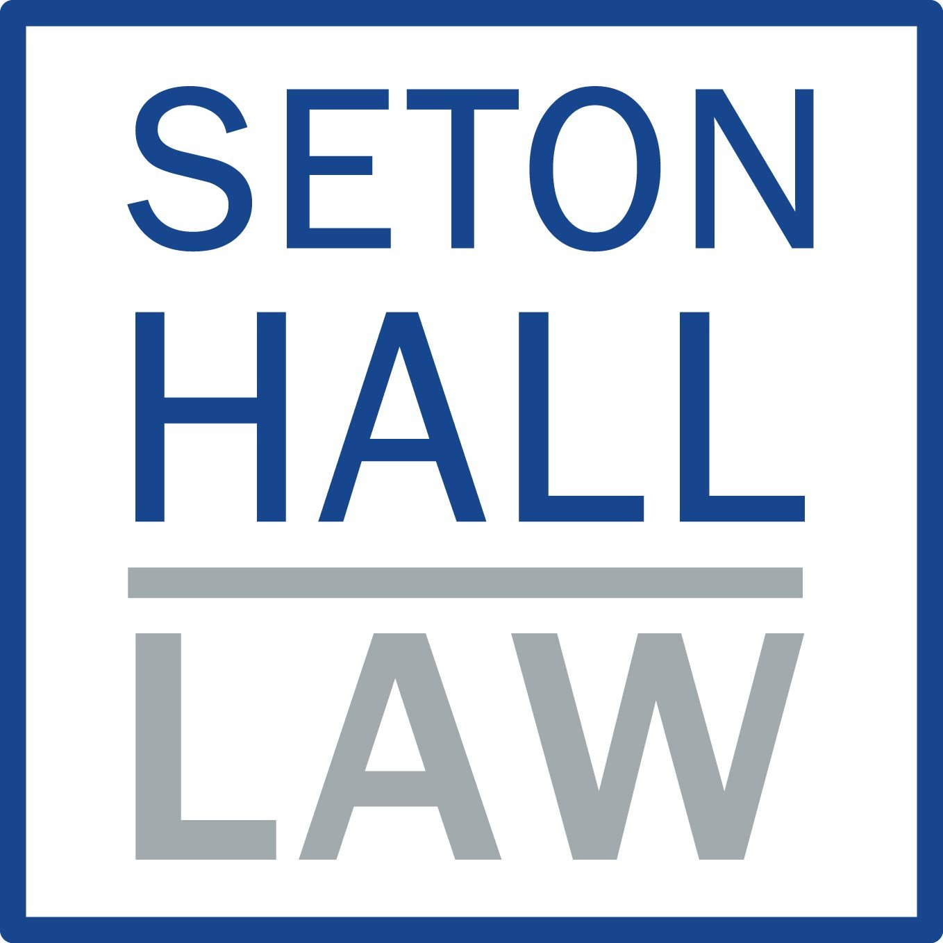Seton Hall Law (logo box)