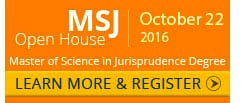 Master of Science in Jurisprudence Online Degree | Open House - October 24, 2015
