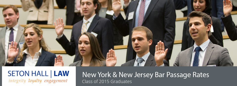 High New Jersey and New York Bar Pass Rates
