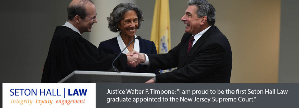 I am proud to be the first Seton Hall Law graduate appointed to the New Jersey Supreme Court.