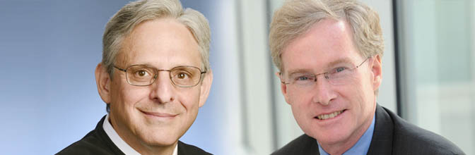 Judge Merrick Garland and Seton Hall Law Professor Edward Hartnett