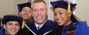 2014 Commencement Dean_Hobbs and Students