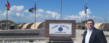 Ghalib Mahmoud at Camp Justice, Guantanamo Bay