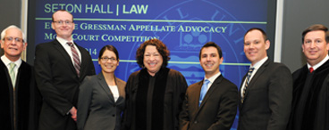 Gressman Moot Court finalists with Judges