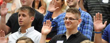 Students swearing-in ceremony at 2013 Orientation