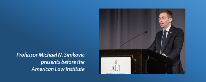 Professor Michael Simkovic at the American Law Institute
